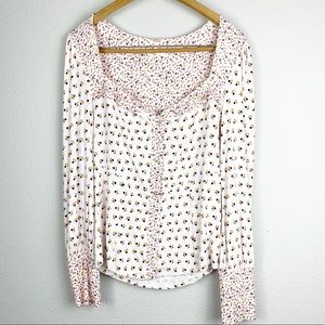 Free People Kissing' Kate Top Large NWT